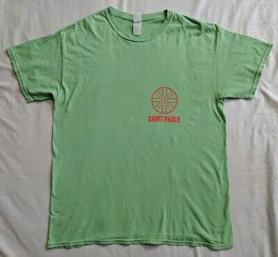 Official The Life Of Pablo Saint Pablo Tour Merch Shirt Green Faded Kanye West L
