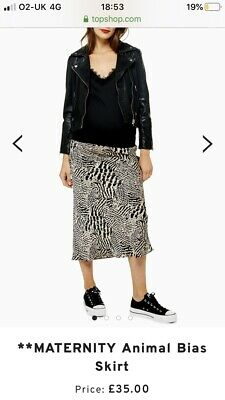 Topshop Maternity Animal Print Midi Skirt Size 12 Sold Out
