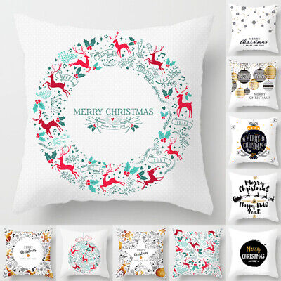 18'' Home Christmas Pillow Case Cushion Cover Throw Gift Protectors Home Decor