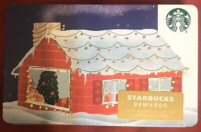 Starbucks House GIFT CARD with Sleeve, 2019 Christmas