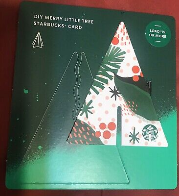 Starbucks Card - 2019 Holiday Winter Christmas Diy Merry Little Tree Red White