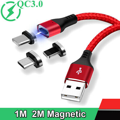Heavy Duty Magnetic Type C USB C Micro Cable Fast Charge Charger Lead For iPhone