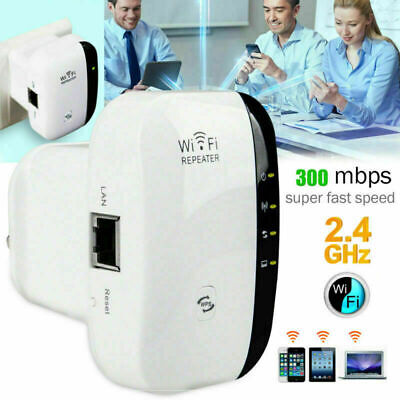 300Mbps WiFi Repeater Signal Booster Amplifier Router Wireless Range Extender BN