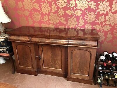 1830's Victorian Antique Chiffonier Solid Mahogany Not Replica Large Sideboard