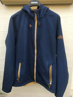 Kathmandu youth zip jacket size L Navy blue with fixed hood