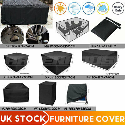 100% Waterproof Garden Patio Furniture Cover Table Square Cube Outdoor Covers UK