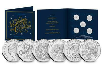 2019 Christmas Pantomime 50p Fifty Pence Coin Set Brilliant Uncirculated Sealed