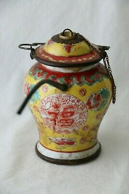 Old Chinese Porcelain Water Pipe 15cm, 6in Tall