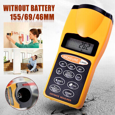 Handheld Digital Laser Point Distance Meter Tape Range Finder Measure Tools