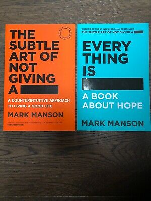 Everything Is FU**ED  & The Subtle Art Of Not Giving A F**K- Mark Manson - NEW