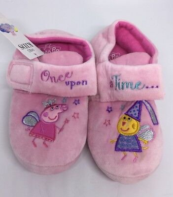 New M&S girls Size 12 Pink Peppa Pig Slippers Shoes BNWT