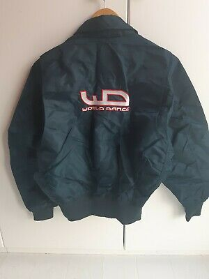 Retro Rave Dance Ma2 Bomber Jacket Size Medium (Could Fit A Large)