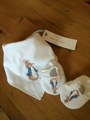 Baby Gift Peter Rabbit Flopsy Bunny Bib And Booties Stocking Filler