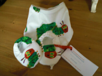 Very Hungry Caterpillar Baby Bib And Booties Stocking Filler