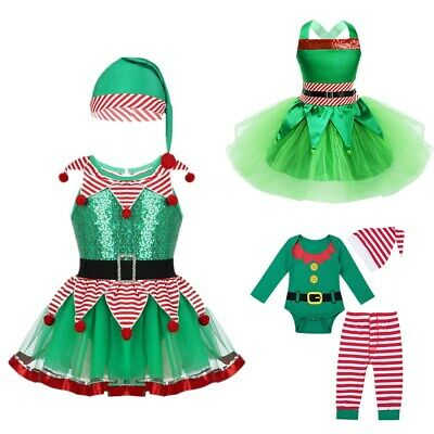 Girls Fairy Christmas Costume Fairy Fancy Dress Tutu Skirt Romper Clothes Outfit