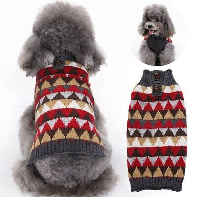 Christmas Dog Sweater Pet Knitwear Puppy Sweaters Apparel For Small Large Pets