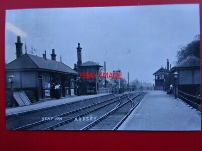 Photo  Arksey Railway Station Gnr C1905 Doncaster To Moss Blane And Heck Line.