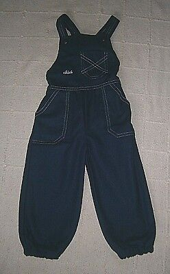 Vintage Wool Mix Dungarees - Age 1-2 Years - Navy - Chici - New