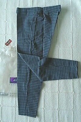 Vintage Stretch Skinny Trousers - Age 6 years  Approx - Grey & Black Check - New