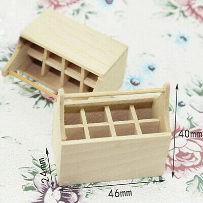 1:12 Miniature cute wooden toolbox dollhouse diy doll house decor accessories CP