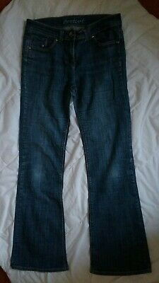 Next Womens Girls Denim Boot Cut Jeans Trousers Pants. Uk 12. Leg 32""