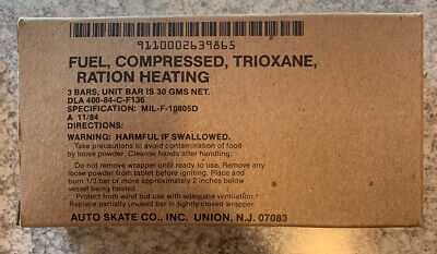 Military Issued Trioxane Fuel Ration Heater Tablets 3 Packs Shipped Free