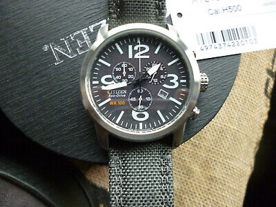 A   Citizen At2100-09E Eco  Military Watch  Con Fully Working