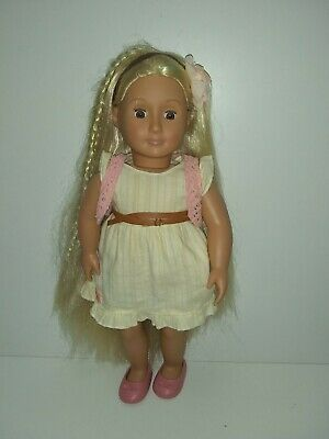 """Our Generation 18"""" Phoebe Doll,long hair,some hair accessories"""