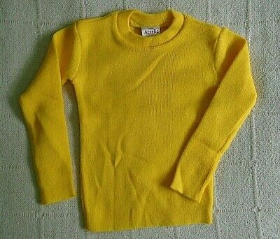 Vintage Crew-Neck Jumper - Age 4-6 Years Approx - Yellow  - Acrylic - New