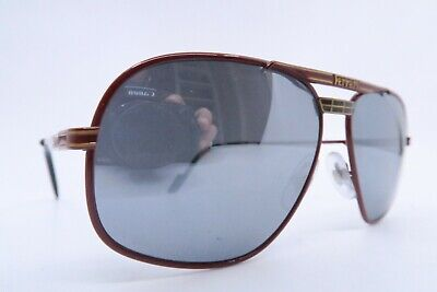 Vintage 70s Ferrari sunglasses red Mod F14 580 mirror lens made in Italy EXC ***