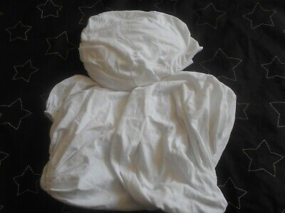 3 Babies White Fitted Moses Basket Sheets