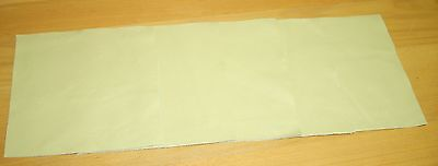 leather craft pieces scrap offcuts Rich clotted Cream leather 5 x pieces 20x20cm