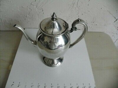Lehman Brothers Lb New York Silverplate Teapot Pitcher With Attached Lid