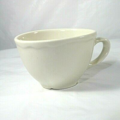 """Homer Laughlin Best Restaurant Ware Flat Coffee Tea Cup China White 2.75"""""""