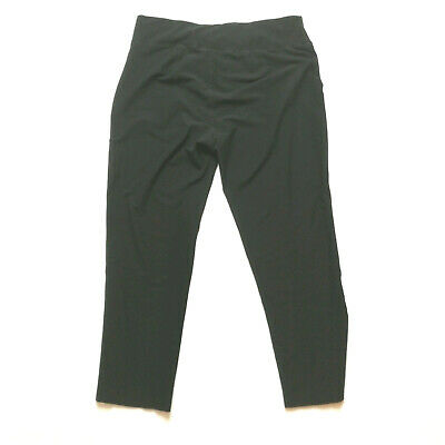 Eileen Fisher System Washable Crepe Straight Pants Petite Large PL Black