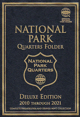 New WHITMAN National Park Quarters 2010-2021 P&D DELUXE EDITION Coin Folder Book
