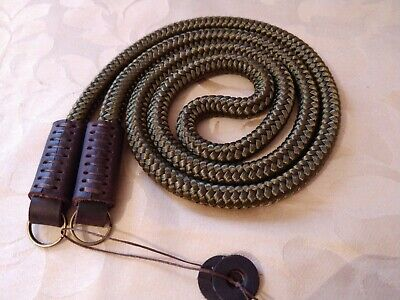 Hand made cord & rope leather camera neck strap 120cm long