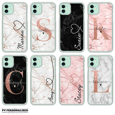 Name Phone Case Personalised Marble Hard Cover Apple Iphone 7 8 Xs Max Xr 11 Pro