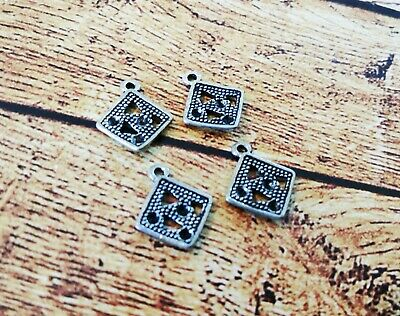 Free ship 720 pieces tibetan silver MADE WITH LOVE charms 11x8mm L-3444