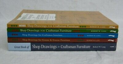 Shop Drawings Craftsman Furniture Interiors Greene & Greene Book Lot of 5
