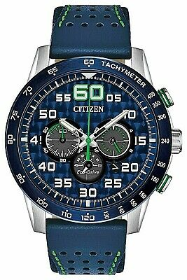 Citizen CA4438-00L Primo Blue Leather Strap Eco Drive Watch Box & Papers