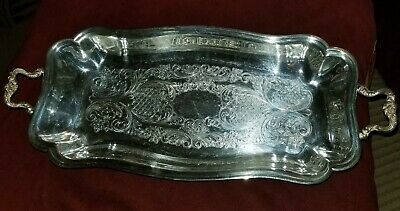 Sheridan Silver Footed Handled Roll Celery Dish