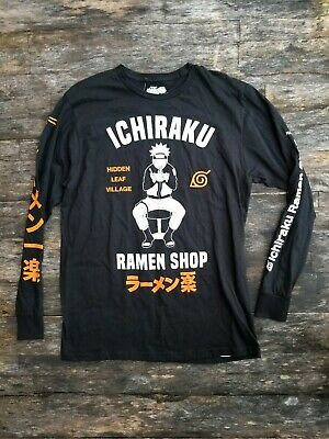NARUTO SHIPPUDEN large ICHIRAKU RAMEN SHOP Hidden Leaf Village long sleeve shirt