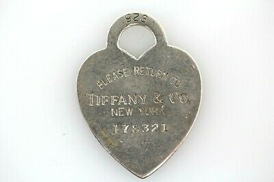 Vintage Tiffany & Co. Heart Tag Charm 925 Sterling Silver Numbered! *