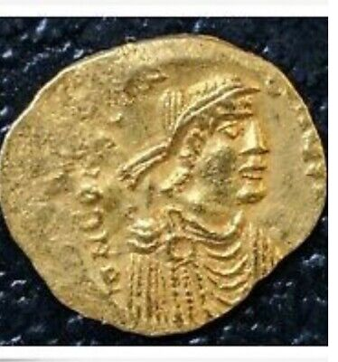 🦆🙊🦉Byzantine Gold Coin Tremissis CONSTANS II - around 641-668 AD - 1.4 Grams