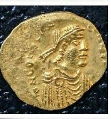 Byzantine Gold Coin Tremissis CONSTANS II Emperor - 641-668 AD - 1.4 Grams