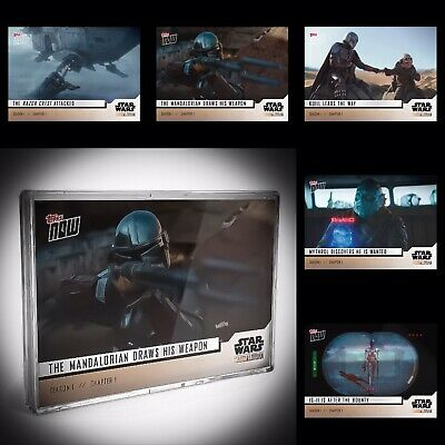 🛑👀 Star Wars The Mandalorian TOPPS NOW 5-Card Pack - S1:Chapter 1 🔥