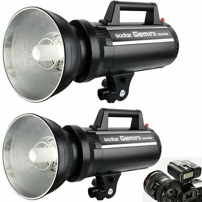 2Pcs Godox GS400II 400W 2.4G Wireless Studio Strobe Flash + X1T Trigger Kit