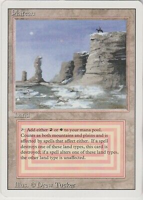 MTG 1X Plateau X1 Revised Edition Magic 3rd 3ED Dual Land NM
