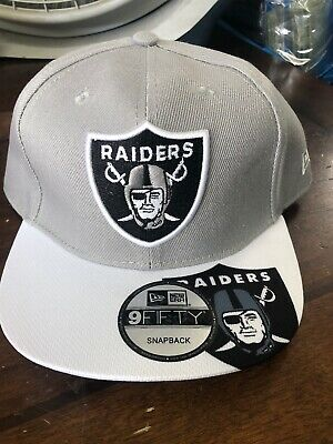 Oakland Raiders New Snapback Hat Cap NFL Football Grey